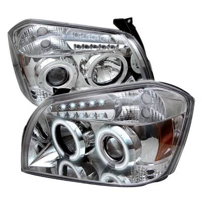Spyder - Dodge Magnum Spyder Projector Headlights - CCFL Halo - LED - Chrome - 444-DMAG05-CCFL-C
