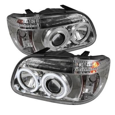 Spyder - Ford Explorer Spyder Projector Headlights - CCFL Halo - Chrome - 1PC - 444-FEXP95-CCFL-1PC-C