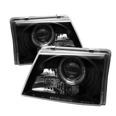 Spyder - Ford Ranger Spyder Projector Headlights - LED Halo - Black - 444-FR98-BK