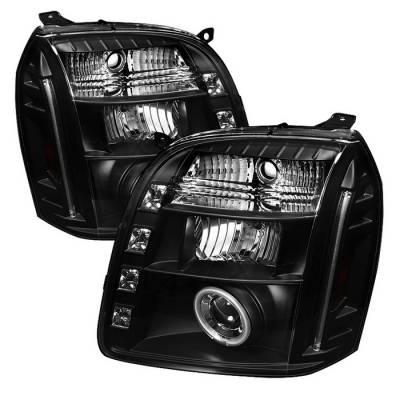 Spyder - GMC Yukon Spyder Projector Headlights - CCFL Halo - LED - Black - 444-GY07-CCFL-BK