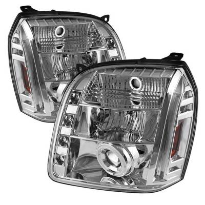 Spyder - GMC Yukon Spyder Projector Headlights - CCFL Halo - LED - Chrome - 444-GY07-CCFL-C