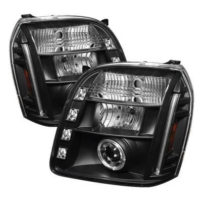 Spyder - GMC Yukon Spyder Projector Headlights - LED Halo - LED - Black - 444-GY07-HL-BK