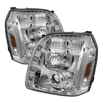 Spyder - GMC Yukon Spyder Projector Headlights - LED Halo - LED - Chrome - 444-GY07-HL-C