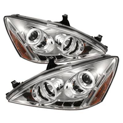Spyder - Honda Accord Spyder Projector Headlights - CCFL Halo - LED - Chrome - 444-HA03-CCFL-C