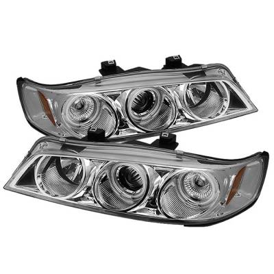 Spyder - Honda Accord Spyder Projector Headlights - CCFL Halo - Chrome - 1PC - 444-HA94-CCFL-C