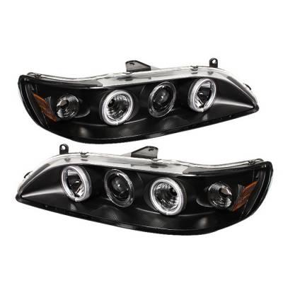 Spyder - Honda Accord Spyder Projector Headlights - CCFL Halo - Black - 1PC - 444-HA98-CCFL-BK