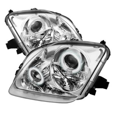 Spyder - Honda Prelude Spyder Projector Headlights - CCFL Halo - Chrome - 444-HP97-CCFL-C