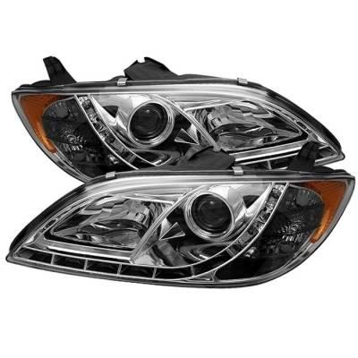 Spyder - Mazda 3 4DR Spyder Projector Headlights - DRL - Chrome - 444-M304-DRL-C