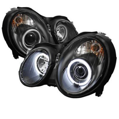 Spyder - Mercedes-Benz CLK Spyder Projector Headlights CCFL Halo - Black - 444-MBCLK98-CCFL-BK