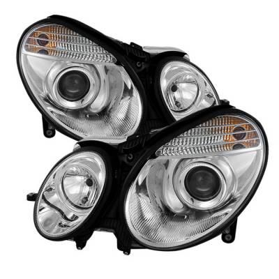 Spyder - Mercedes-Benz E Class Spyder Projector Headlights Chrome - 444-MBW21103-C
