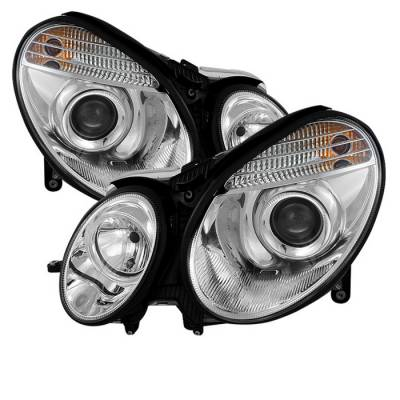 Spyder - Mercedes-Benz E Class Spyder Projector Headlights Chrome - 444-MBW21107-C