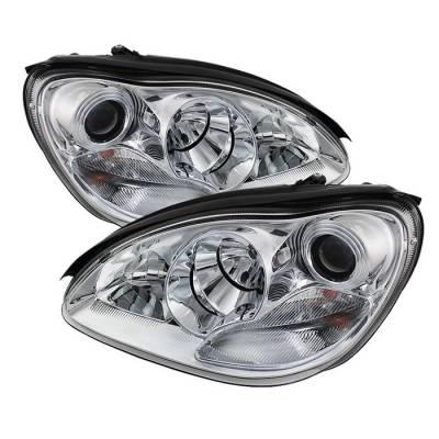 Spyder - Mercedes-Benz S Class Spyder Projector Headlights - Xenon HID Model Only - Chrome - 444-MBW220-HID-C