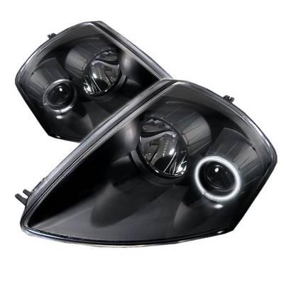 Spyder - Mitsubishi Eclipse Spyder Projector Headlights - CCFL Halo - Black - 444-ME00-CCFL-BK