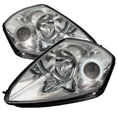 Spyder - Mitsubishi Eclipse Spyder Projector Headlights - CCFL Halo - Chrome - 444-ME00-CCFL-C