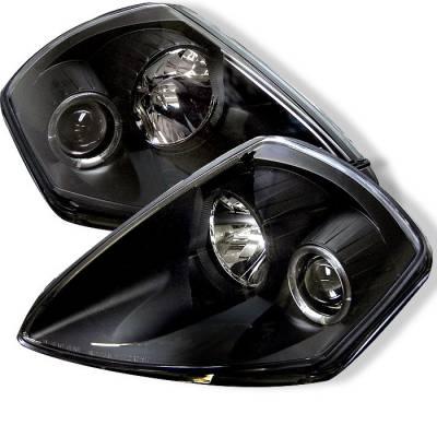 Spyder - Mitsubishi Eclipse Spyder Projector Headlights - LED Halo - Black - 444-ME00-HL-BK
