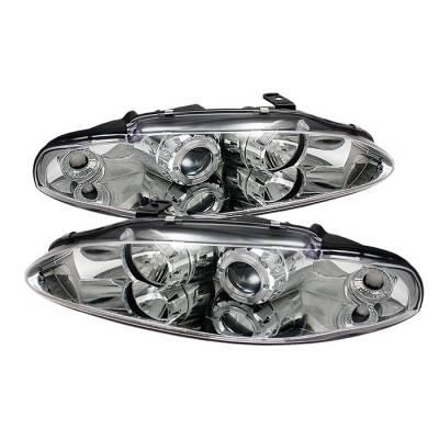 Spyder - Mitsubishi Eclipse Spyder Projector Headlights - LED Halo - Chrome - 444-ME95-HL-C