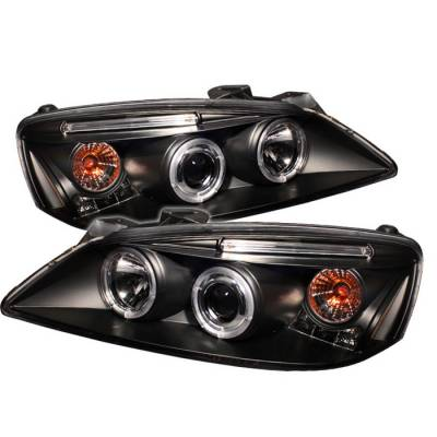Spyder - Pontiac G6 Spyder Projector Headlights - CCFL Halo - LED - Black - 444-PG605-CCFL-BK