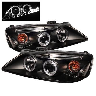 Spyder - Pontiac G6 Spyder Projector Headlights - LED Halo - LED - Black - 444-PG605-HL-BK