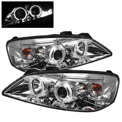 Spyder - Pontiac G6 Spyder Projector Headlights - LED Halo - LED - Chrome - 444-PG605-HL-C