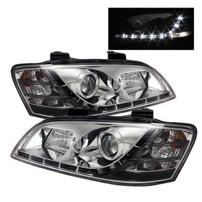 Spyder - Pontiac G8 Spyder Projector Headlights - DRL - Chrome - 444-PG808-DRL-C
