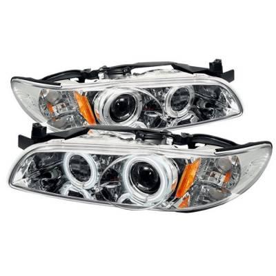 Spyder - Pontiac Grand Prix Spyder Projector Headlights - CCFL Halo - Chrome - 1PC - 444-PGP97-1PC-CCFL-C
