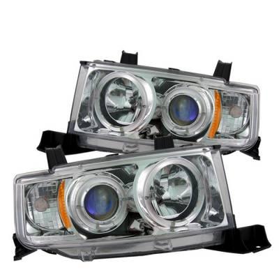 Spyder - Scion xB Spyder Projector Headlights - LED Halo - Chrome - 444-TSXB03-HL-C
