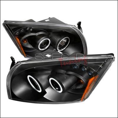 Spec-D - Dodge Caliber Spec-D CCFL Halo Projector Headlights - Black - 4LHP-CAL06JM-KS