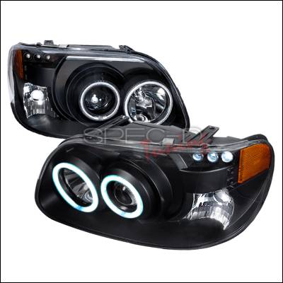 Spec-D - Ford Explorer Spec-D CCFL Halo Projector Headlights - Black - 4LHP-EPOR951PCJM-KS