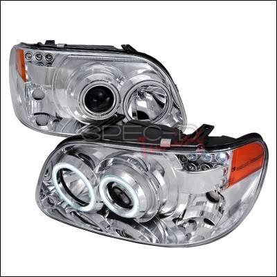 Spec-D - Ford Explorer Spec-D CCFL Halo Projector Headlights - Chrome - 4LHP-EPOR951PC-KS