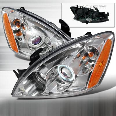 Spec-D - Mitsubishi Lancer Spec-D CCFL Halo Projector Headlights - Chrome - 4LHP-LAN03H-KS