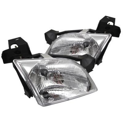 Spyder - Chevrolet Venture Spyder Crystal Headlights - Chrome - HD-JH-CV97-C