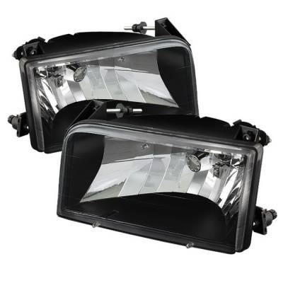 Spyder - Ford F150 Spyder Crystal Headlights - Black - HD-JH-FB92-BK