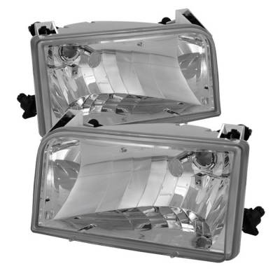 Spyder - Ford F150 Spyder Crystal Headlights - Chrome - HD-JH-FB92-E