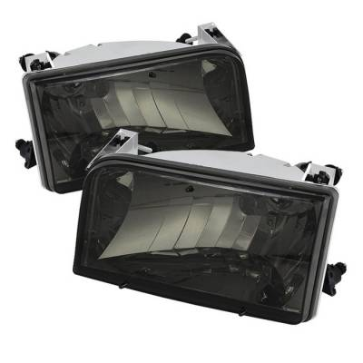 Spyder - Ford F150 Spyder Crystal Headlights - Smoke - HD-JH-FB92-SM