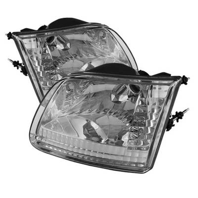 Spyder - Ford F150 Spyder Crystal Headlights - Chrome - HD-JH-FF15097-C