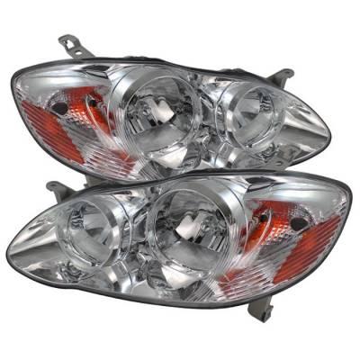 Spyder - Toyota Corolla Spyder Crystal Headlights - Chrome - HD-JH-TC03-AM-C