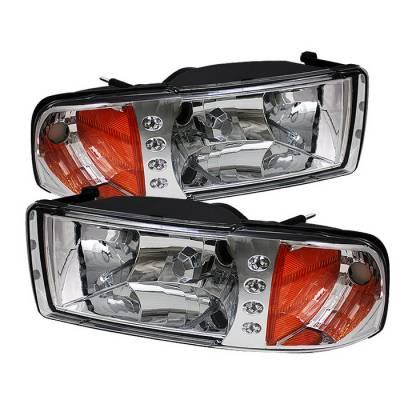 Spyder - Dodge Ram Spyder Crystal Headlights - Chrome - 1PC - HD-ZO-DR94-1PC-C