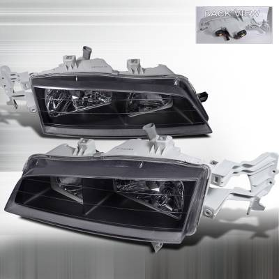 Spec-D - Honda Accord Spec-D Crystal Housing Headlights - Black - LH-ACD94JM-APC