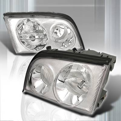 Spec-D - Mercedes-Benz S Class Spec-D Crystal Housing Headlights - Chrome - LH-BW14092-KS
