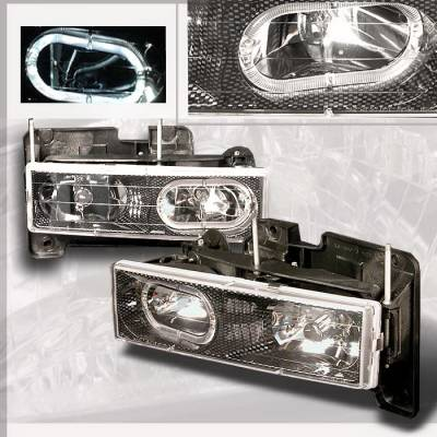 Spec-D - Chevrolet C10 Spec-D Crystal Housing Headlights - Chrome - LH-C1088HCF-KS