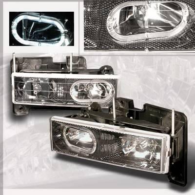 Spec-D - Chevrolet C10 Spec-D Crystal Housing Headlights - Chrome - LH-C1088HCF-KS
