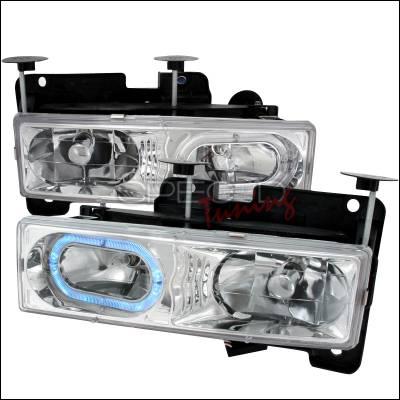 Spec-D - Chevrolet C10 Spec-D Crystal Housing Headlights - Chrome - LH-C1088H-KS