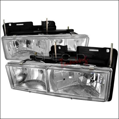 Spec-D - Chevrolet C10 Spec-D Crystal Housing Headlights - Chrome - LH-C1088-RS