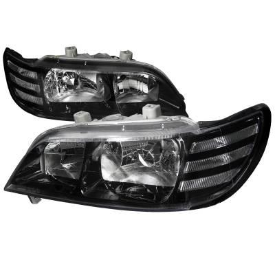 Spec-D - Acura CL Spec-D Euro Headlights - Black Housing - LH-CL97JM-DP