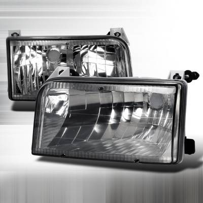 Spec-D - Ford F150 Spec-D Crystal Housing Headlights - Smoke - LH-F15092G-DP