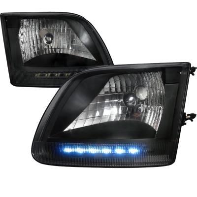 Spec-D - Ford F150 Spec-D Euro Headlights - LH-F15097JM-RS