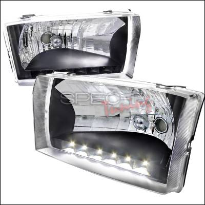 Spec-D - Ford F250 Spec-D LED Headlights - Black Housing - LH-F25099JM-RS