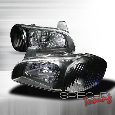 Spec-D - Nissan Maxima Spec-D Crystal Housing Headlights - Black - LH-MAX00JM-KS