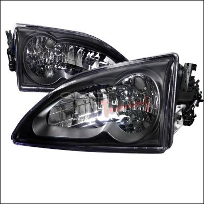 Spec-D - Ford Mustang Spec-D Black Housing Headlights - LH-MST94JM-RS