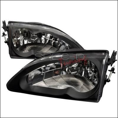 Spec-D - Ford Mustang Spec-D Crystal Housing Headlights - Black - LH-MST94JM-WJ